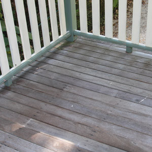 Timber Deck before cleaning